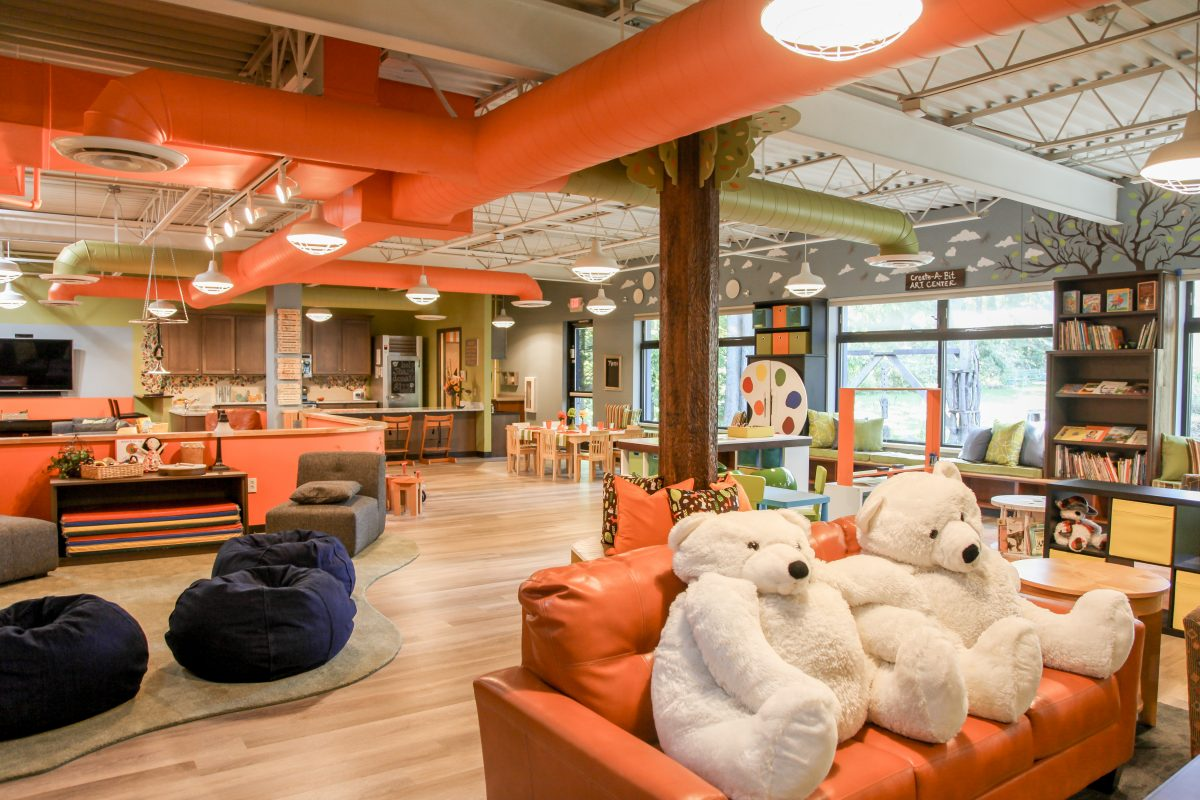 The Respite Center includes space for families and children to play and relax