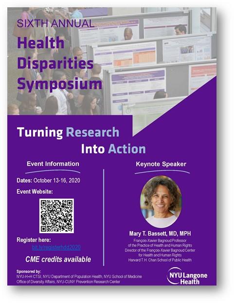 NYU health disparities symposium