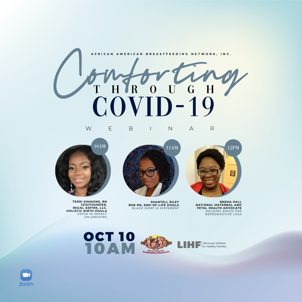 Flyer for the event Comforting Through COVID-19