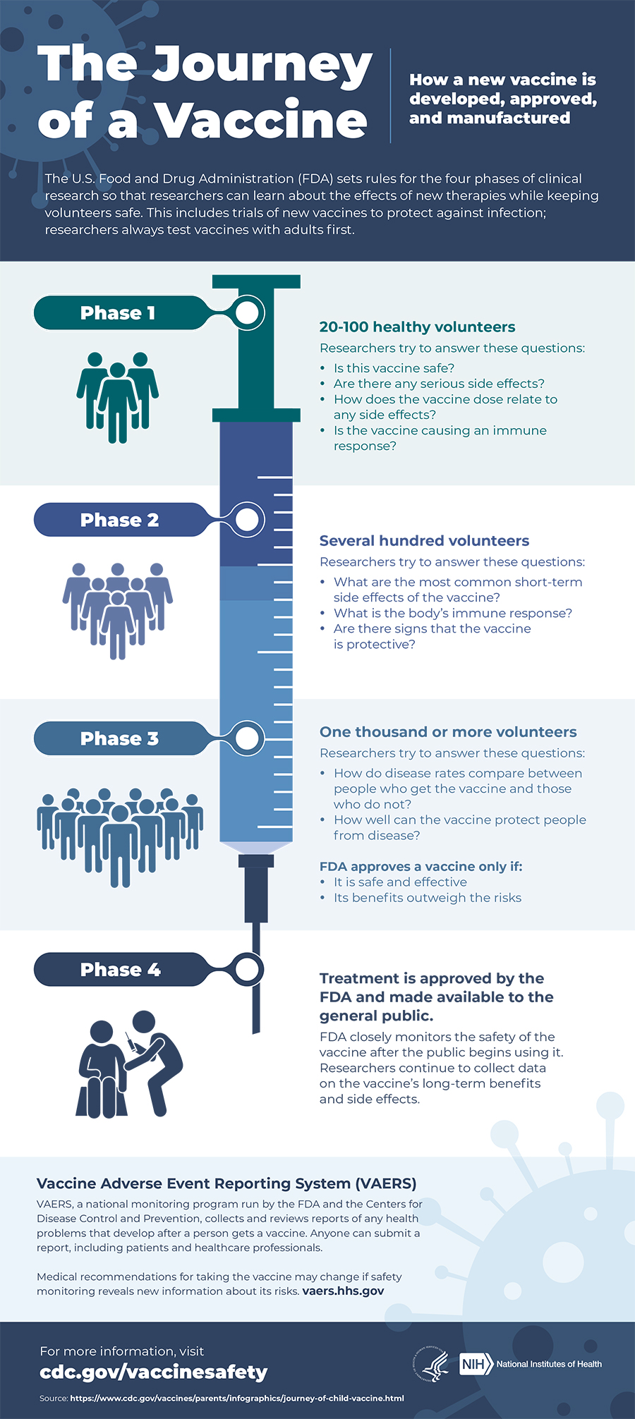Infographic about vaccine development